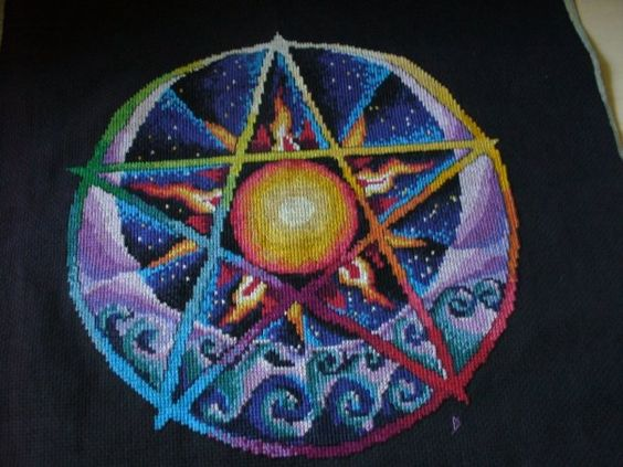 This is the first cross stitch I did