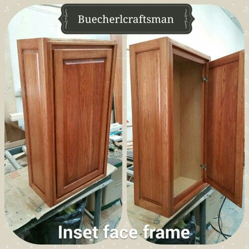 Inset face frame cabinet