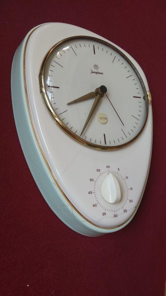 Fine Junghans Max Bill Vintage Porcelain Kitchen Wall Clock W Download Free Architecture Designs Rallybritishbridgeorg