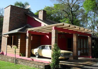 garagem com tronco de eucalipto