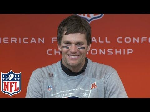 Tom Brady S Afc Championship Postgame Presser That S Why You Play All Four Quarters Nfl Youtube Afc Championship Tom Brady Nfl