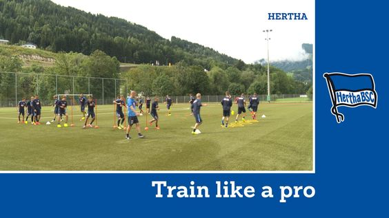 Training unter Jos Luhukay | Aufwärmen | Train like a Pro | Hertha BSC