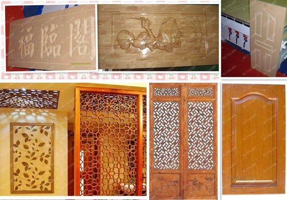 wood samples of cnc router machine