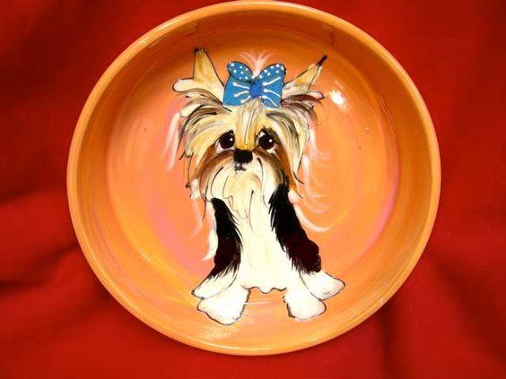 Client Order: Biewer Yorkshire Terrier Dog Bowl