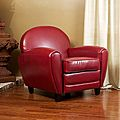 Christopher Knight Home Oversized Ruby Red Leather Club Chair | Overstock.com