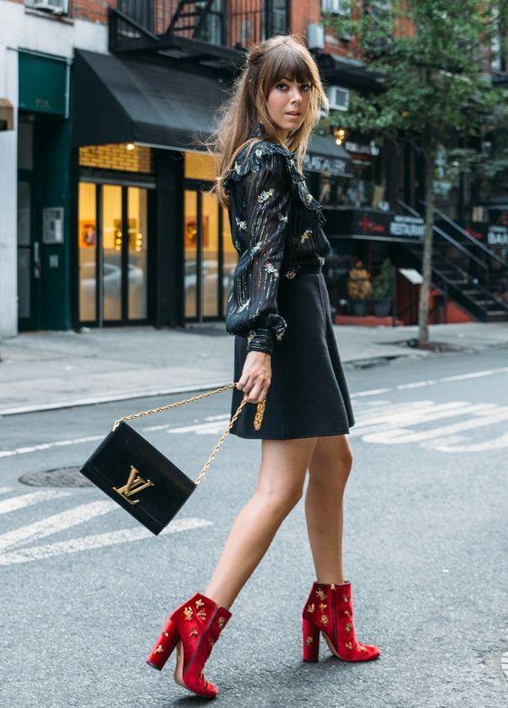 Veja dicas de como usar a bota vermelha.