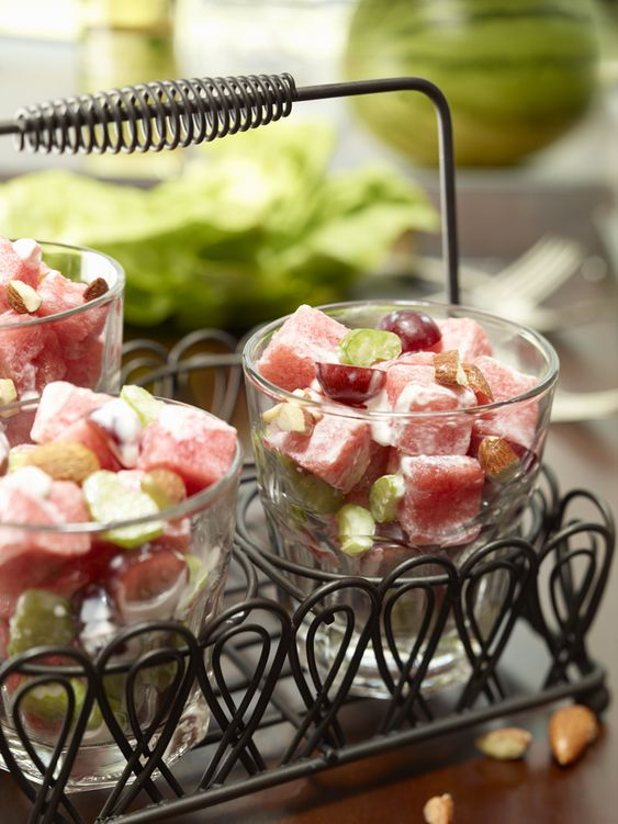 Watermelon Waldorf Salad | Recipe by @WatermelonBoard