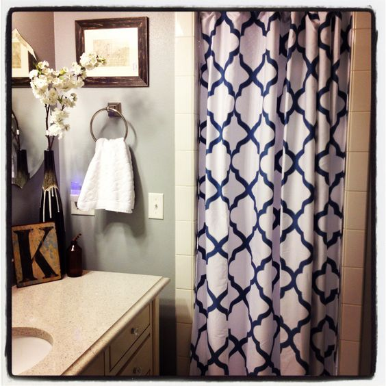 Love my tj maxx shower curtain. Kerkhoff Design | Bathroom ideas ...