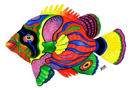 Multicolore Dessin Poisson Animaux D Aquarelle Poisson Exotique