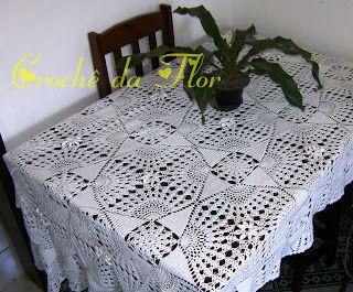 toalhas de mesa de croche - Google Search