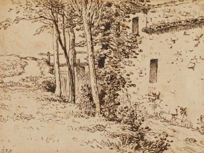 molino de agua cerca de Vichy, 1867 - Jean-François Millet