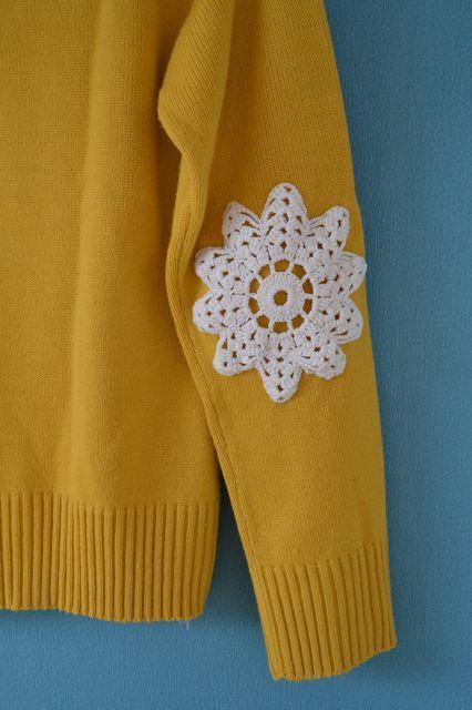 ao with <3 / Miris Jahrbuch: DIY - Pullover mit Häkeldeckchen /doily sweater DIY
