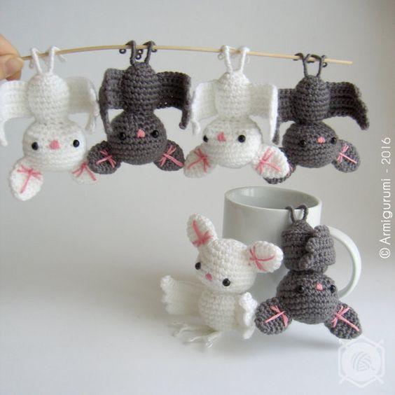 Amigurumi chauve-souris décoration à suspendre par Armigurumi