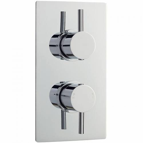 Nuie Quest Twin Thermostatic Shower Valve With Diverter Quev52
