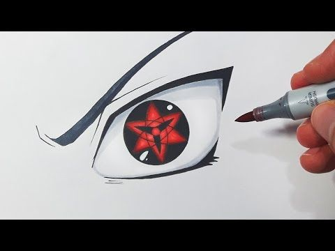 How To Draw Sasuke S Eternal Mangekyou Sharingan Step By Step