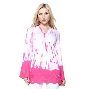 DG2 Knit Tie-Dye Tunic with Eyelet Trim at HSN.com.