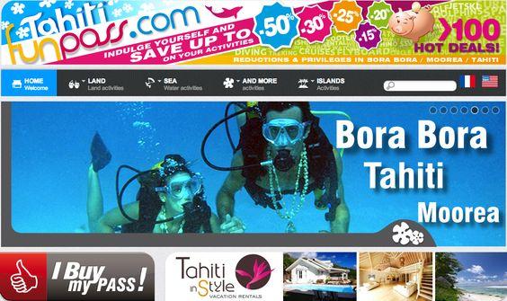Bora Bora, Tahiti, Moorea with over 100 fun activities!