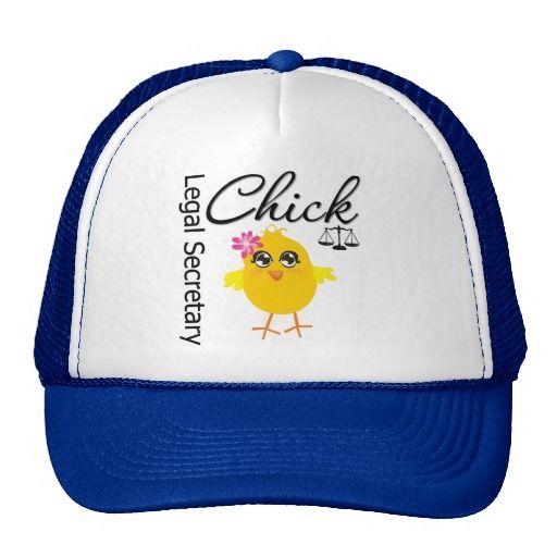 Cute Career Chick - Legal Secretary Trucker Hat #legalSecretaryChick #administrativeprofessionalsday #appreciationhat