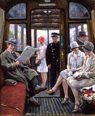 Fischer, Paul Gustave (1860-1934) Copenhagen tram