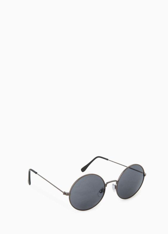 Sonnenbrille mit runder Fassung