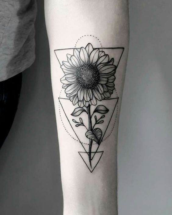 Mini Tatuajes De Girasoles Tatuajes Girasoles Tatuajes Para Mujer Tatuajes