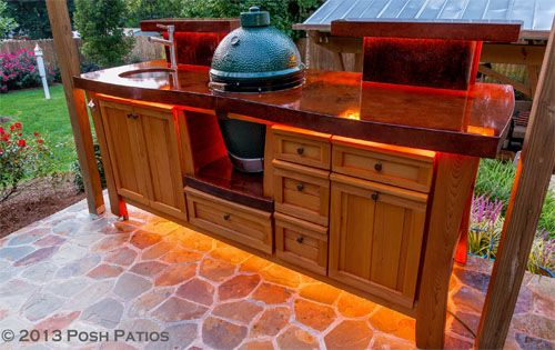 Another Great Custom Sweet Southern Collection Table By Posh Patios | House  | Pinterest | Big Green Egg Table, Green Eggs And Egg