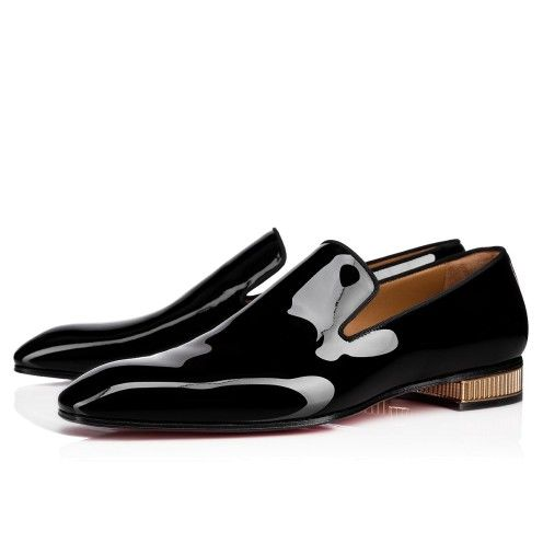 Louboutin shoes mens, Patent leather shoes