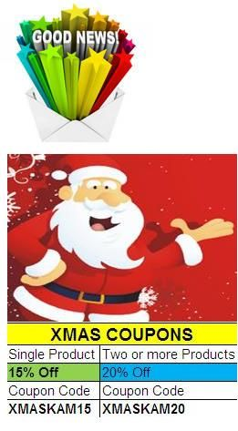 Good News! Christmas Offer Extended till 31st December. Get Magento Extensions from http://mage-extensions-themes.com/  15% off for any extension. 20% off for two or more extensions purchase.