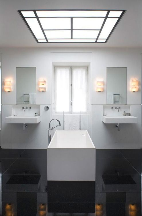 Bathroom for two.