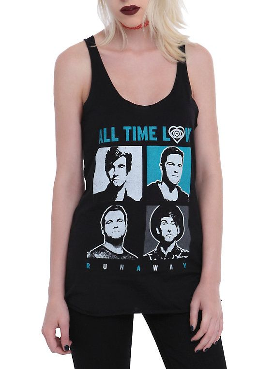 All Time Low Runaway Girls Tank Top, BLACK