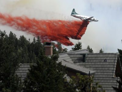 Slurry bombers trying to keep us safe. Keep up the great work! Flagstaff Fire - Boulder Daily Camera