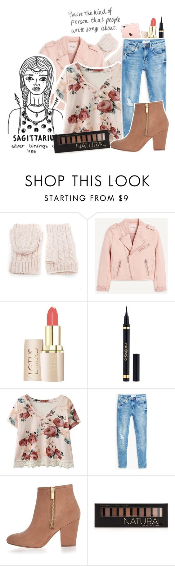 """""""Sagittarius"""" by superhannah572 ❤ liked on Polyvore featuring WithChic, Yves Saint Laurent, MANGO, River Island and Forever 21"""