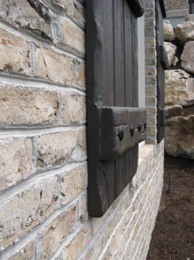 rustic exterior shutters