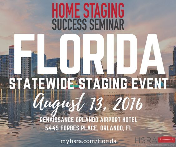 Join us in Orlando for our next Home Staging Success Seminar