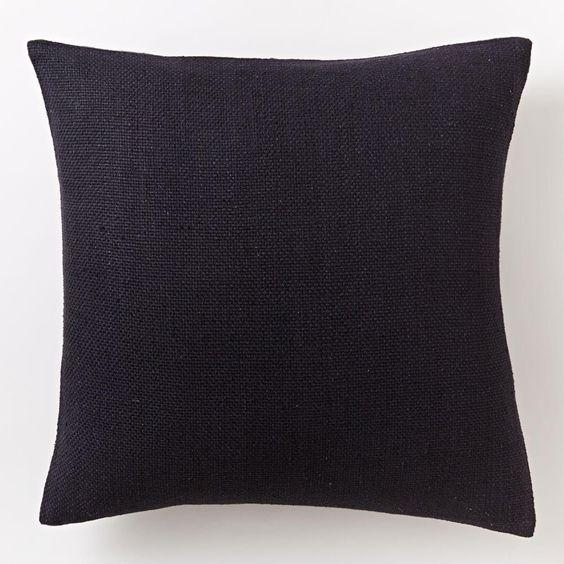 Silk Hand-Loomed Cushion Cover - Black