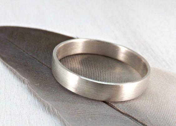 elegant silver ring low domed silver ring mens ring by CrazyAssJD