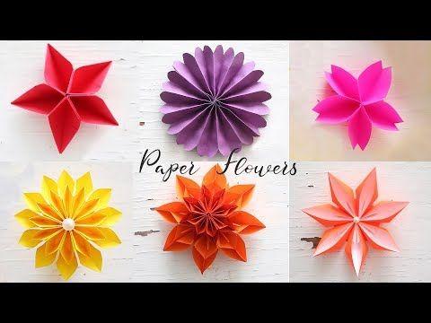10 Construction Paper Flowers Paper Flowers Diy Paper Flower