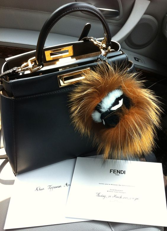 "Just fur fun - My Fendi Peekaboo & little monster ""Kooky.""  Add more fun to my days ...:"