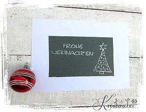 Weihnachten mit Stil Motivstempel www.kreativzauber.de