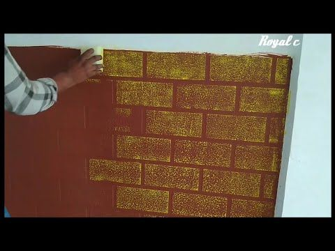 Asian Paint Red Brick Wall Decor Texture Design Youtube Brick Wall Decor Asian Paints Wall Painting Techniques
