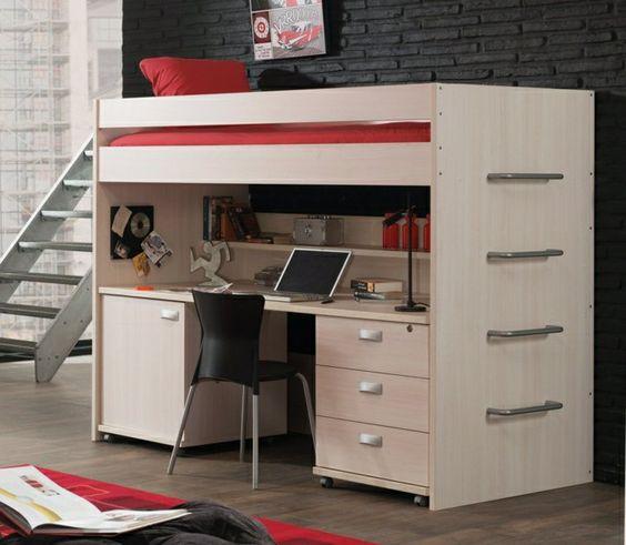 ikea lit mezzanine fly en bois clair meubles dans la chambre denfant - Chambre Jungle Fly