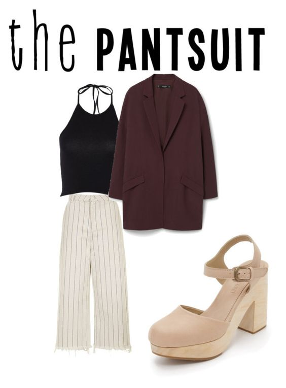 """""""Untitled #54"""" by farahhazem75 ❤ liked on Polyvore featuring Topshop, MANGO, Rachel Comey and thepantsuit"""