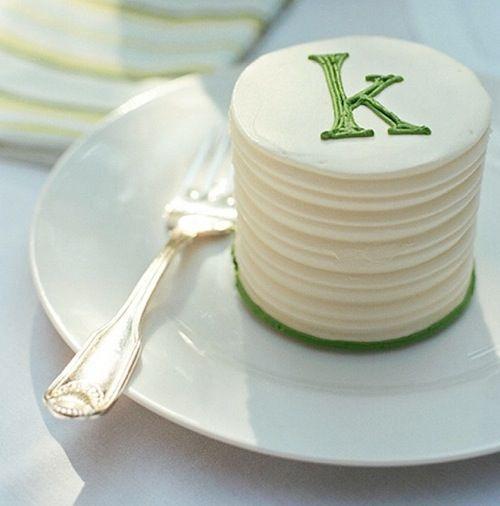 mini-wedding-cake-designs.001: Wedding Idea, Individual Cake, Mini Cake, Party Idea, Monogrammed Cake, Wedding Cake, Weddingcake