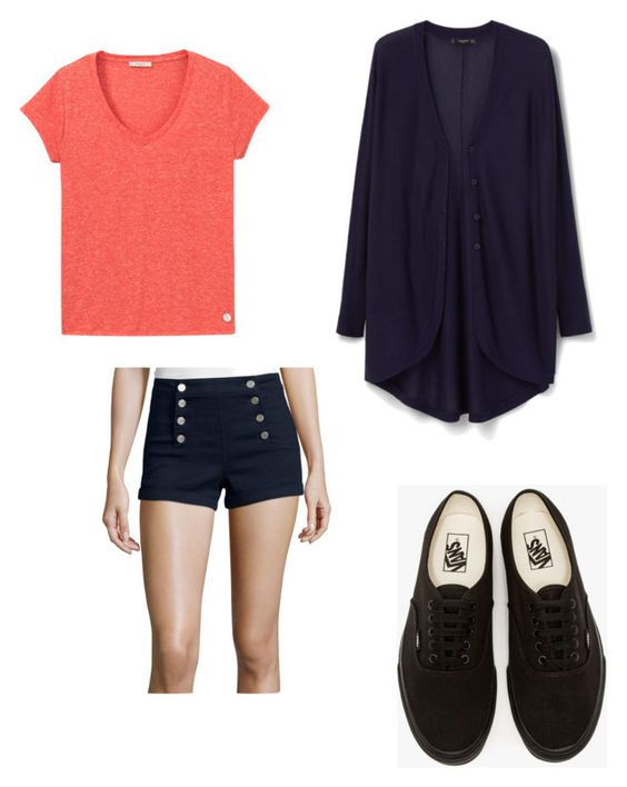 """""""Casual Outfit"""" by briekb on Polyvore featuring Almost Famous, Lee, MANGO and Vans"""