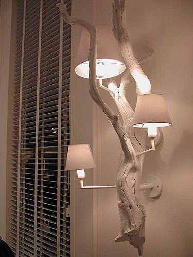 driftwood lamp: