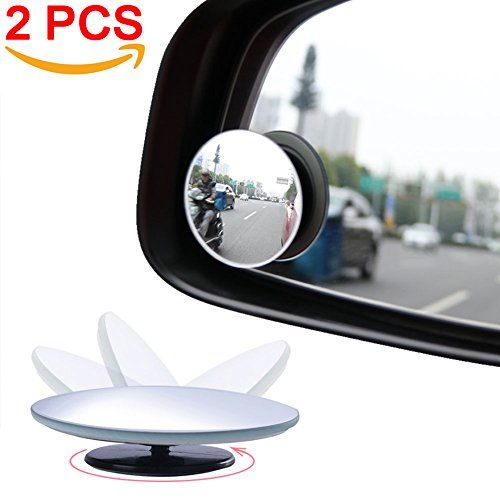 Amfor Blind Spot Mirror Round Hd Glass Convex Lens Frameless Adjustable Blind Spot Mirror For All Universal Vehicles Car Stick With Images Blind Spot Mirrors Glass Blinds