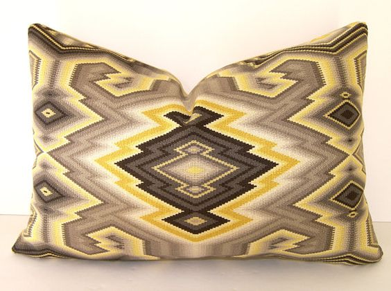 more grey/gold combination  Decorative Pillow Cover  Lumbar  12x18 inches  Dk by Loubella1