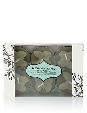 Neroli, Lime & Basil Decorative Scented Tealights