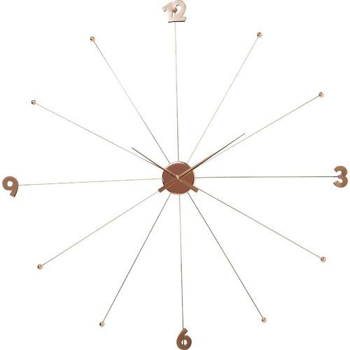Kare Design Likeumbrella 100cm Wall Clock Metal Clock Clock How To Make Wall Clock