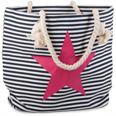 Strandtasche mit Streifen und Stern